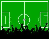 Ventiladores de futebol Fotografia de Stock Royalty Free