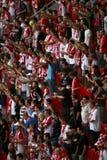 Ventiladores de futebol imagem de stock royalty free