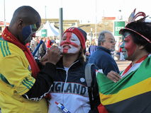 Ventiladores de futebol africanos Foto de Stock