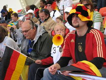 Ventiladores de futebol alemães Imagem de Stock