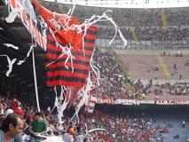 Ventiladores de futebol italianos Imagens de Stock