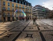 Ventiladores de la burbuja en Lisboa fotografía de archivo