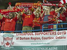 Ventiladores de Liverpool FC Foto de Stock
