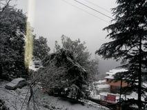 Ventiladores de neve fotografia de stock