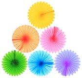 Ventiladores de papel coloridos Foto de archivo libre de regalías