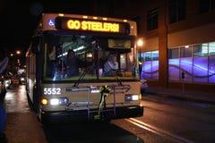 Ventiladores de Steelers que celebran la victoria Foto de archivo libre de regalías