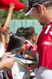 Ventiladores del campo de entrenamiento de los cardenales del NFL Arizona Foto de archivo libre de regalías