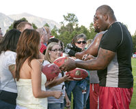 Ventiladores del campo de entrenamiento de los cardenales del NFL Arizona Fotos de archivo