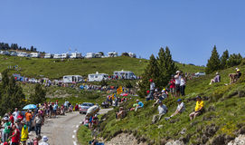 Ventiladores del Tour de France Foto de archivo libre de regalías