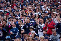 Ventiladores dos patriotas de Nova Inglaterra Fotos de Stock