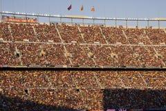 Ventiladores en el campo Nou Barcelona Imagen de archivo