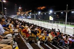 Ventiladores en Singapur 2009 F1 Fotos de archivo