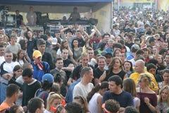 Ventiladores en Tuborg Fest verde Foto de archivo