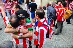Ventiladores espanhóis que comemoram (7) fotografia de stock