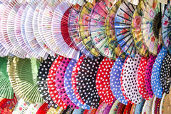 Ventiladores españoles coloridos Fotografía de archivo libre de regalías