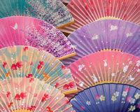 Ventiladores japoneses imágenes de archivo libres de regalías