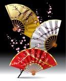 Ventiladores japoneses stock de ilustración