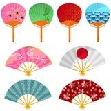 Ventiladores japoneses Imagens de Stock Royalty Free