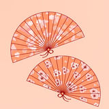 Ventiladores japoneses tradicionales Imagen de archivo