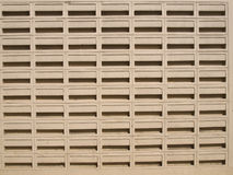 Ventilated white wall Royalty Free Stock Image