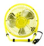 Ventilateur électrique jaune photos libres de droits