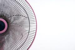 Ventilateur électrique sale sur le fond blanc Photo libre de droits