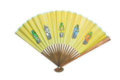 Ventilateur asiatique d'isolement Photographie stock