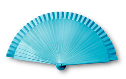 Ventilateur bleu Photo stock