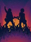 Ventilateur de concert de musique Photos stock