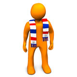 Ventilateur de football Image libre de droits