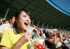Ventilateur de football images libres de droits