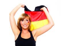 Ventilateur de football allemand Photos libres de droits