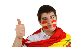 Ventilateur de football espagnol Image libre de droits