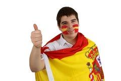 Ventilateur de football espagnol Photos libres de droits