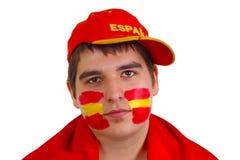 Ventilateur de football espagnol Photographie stock libre de droits