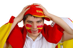 Ventilateur de football espagnol Photos stock