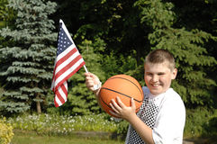 Ventilateur de garçon de basket-ball Image stock