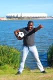 Ventilateur de l'Afrique du Sud de coupe du monde du football Image stock