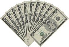 Ventilateur des cinq dollars Image stock