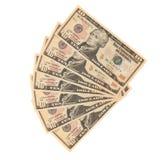 Ventilateur des dollars Photos stock