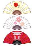 Ventilateur du Japon illustration stock
