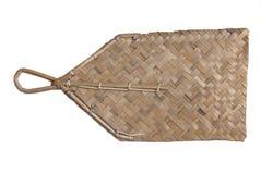 Ventilateur en bambou de main Photographie stock libre de droits