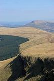 Balises de Brecon, Pays de Galles Photos libres de droits