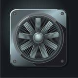 Ventilateur industriel Ventilation d'air Propulseur réaliste en métal Image libre de droits