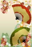 Ventilateur japonais illustration stock