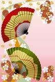 Ventilateur japonais Photo stock