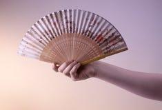 Ventilateur oriental antique Image libre de droits