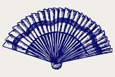 Ventilateur se pliant illustration stock