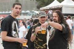 Ventilateurs au Fest vert de Tuborg Photos stock