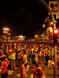 Ventilateurs célébrant la victoire Photographie stock